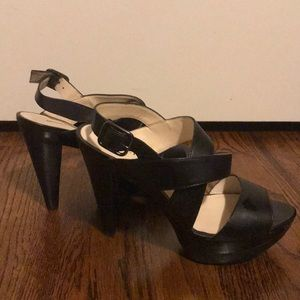 Audrey &Brooke Black Strappy Dress Shoes Size 6.5